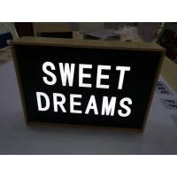 Wholesale Retro Style Battery Powered Cinematic Light Box With Light Up Letters from china suppliers