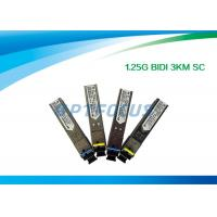 Wholesale 1.25G Bi - Di SFP Optical Transceiver 1310nm 1550nm 3km SC Connector from china suppliers