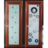 Wholesale Wood grain 1.0mm-1.2mm profile thickness kitchen, bath room aluminum hinged doors from china suppliers