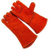 Wholesale  AB grade tillman long Welding Glove with one piece leather back for women WRCBR from china suppliers