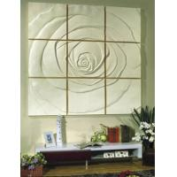 Buy cheap PU 3D Decorative Wall Panel 60cm * 60cm for TV , Sofa Background from wholesalers