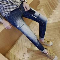 Wholesale Pairing White Mens Super Skinny Jeans , Creative Mens Fashion Skinny Jeans from china suppliers