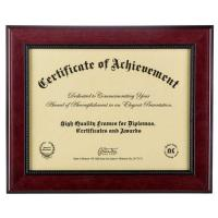 "Wholesale Mahogany 2- Toned 11""x 8 1/2"" Opening Solid Wood Certificate Picture Frames from china suppliers"