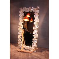 Wholesale Plywood View Art Deco Mirrors , Modern Black Frame with Shell from china suppliers