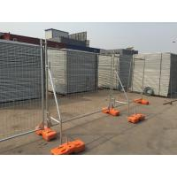 Wholesale OD 48 post temp fencing for sale 2100mm x 2400mm width mesh opening :60mm x 150mm diameter 4.00mm UV treatment block from china suppliers