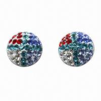 Wholesale Stud Earring, Made of 925 Silver Post with Crystal Material from china suppliers