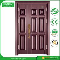 Wholesale Standard Size Of Main Gate Modern Designs Spanish Steel Security Door with Galvanized Handle, Hinghes from china suppliers