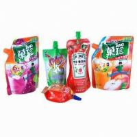 Wholesale Self-Standing Composite Spout Pouch Packaging PET+ NY + AL + PE For Energy Drink / Juice from china suppliers