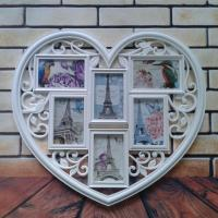 Wholesale 2015 China Hot Sale Home Decor Cheap Love Heart Plastic Shaped Photo Frame wedding Gifts from china suppliers
