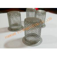 Wholesale Perforated SS304 / SS316 Sieve Mesh Filter Cover Cap OD30X100mm from china suppliers