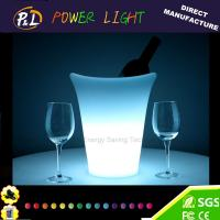 Wholesale Wireless Colorful Plastic Pub Bar Furniture Round LED Wine Ice Bucket from china suppliers
