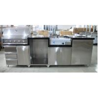 China Sliver Color Commercial Kitchen Equipments Gas Grill / 201# Stainless Steel Grill With Cabinet on sale