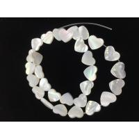 Wholesale Natural Mother Of Pearl Stud Earrings Letter / Heart Shaped For Customized Jewelry from china suppliers