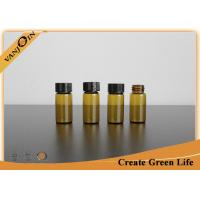 Wholesale Chemical Packaging 7ml Amber Small Glass Vials With Plastic Screwing Cap from china suppliers