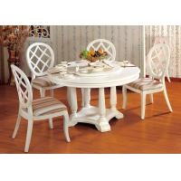 Wholesale Hotel Elegant Wooden Luxury Dining Room Furniture White Round Dining Table from china suppliers