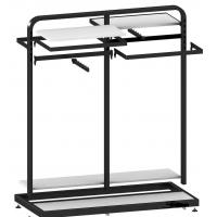 Wholesale Metal / wood  Customized Color display rack stand Garment showrooms  600*500*1000mm from china suppliers