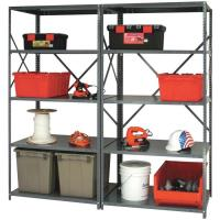 Wholesale 20 Gauge Steel Industrial Shelving Racks , 5 Shelf Metal Storage Rack from china suppliers