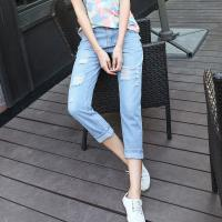 Wholesale Mid Rise Shorts Women'S Fashionable Straight Leg Cropped Jeans Western Style from china suppliers