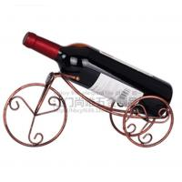 Buy cheap Hot sale Bronze Tricyle shape red win holder/Creative European style single bottle red wine rack from wholesalers
