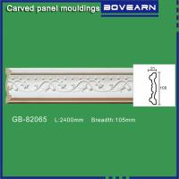 Wholesale Polyurethane Carved Panel Mouldings/ Chair rails/ white primed color customized OEM accepted from china suppliers