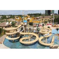 Wholesale Giant Customized Water Playground Equipment for Aqua Theme Park Fiberglass Water Slide from china suppliers
