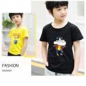 Scoop Neck Children's Style Clothing , Short - Sleeved Cotton Children T Shirt for sale