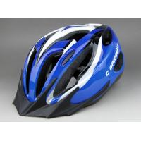 Wholesale EPS Visor Adult Bicycle Helmets Blue Washable With Adjustable strap from china suppliers