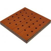 Wholesale Sound Insulation Wooden Perforated Acoustic Panel , 600 * 600mm from china suppliers