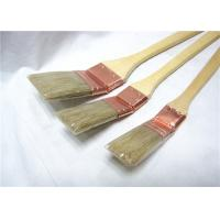 Wholesale Natural Bristle Radiator Paint Brush Wooden Long Handle For Wall Painting / Cleaning from china suppliers