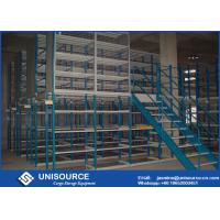 Wholesale Steel Structure Warehouse Mezzanine Floors , Multi Level Shelf Supported Mezzanine from china suppliers