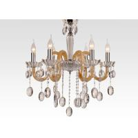 Wholesale White Amber Hanging Modern Glass Chandeliers with Art Glass for Dining room / Foyer from china suppliers