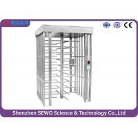 Iron gray Full Height Turnstile / Single or/ bi - direction pedestrian turnstile gate