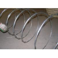 Wholesale Hot Dipped Security Razor Wire , PVC Coated Single Coil Barbed Fencing Wire from china suppliers