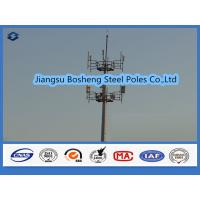 Wholesale Mobile antenna mast above 95% Penetration rate , steel telegraph poles White Color from china suppliers