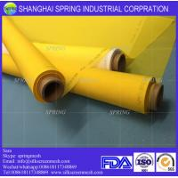 Wholesale White/Yellow 72T-48PW malla polyester serigrafia/Polyester Screen Printing Mesh from china suppliers