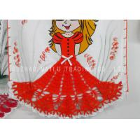 Wholesale 30cm Crochet Kitchen Towels Red Dress Shape Anti - Static Knitted Applique from china suppliers