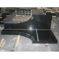 Buy cheap absolute black granite tombstone from wholesalers