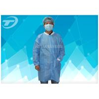 Wholesale Polypropylene Spunbond Disposable Visitor Coats Color White Blue Navy Red from china suppliers