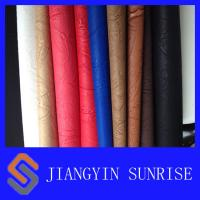 Wholesale Anti - Yellowing Embossed Pattern PU Synthetic Leather / PU Polyurethane Leather from china suppliers