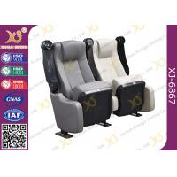Wholesale Sound Absorbing Indoor Novel Design Grey Cinema Theater Chairs With PU Molded Foam from china suppliers