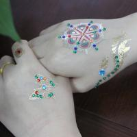 Wholesale Rhinestone / Crystal / Metallic Temporary Tattoo Stickers Colorful Custom Printed from china suppliers