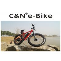Wholesale High Power Fat Tire Snow Bike , PAS Throttle Full Suspension Electric Mountain Bike from china suppliers