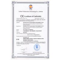 Tianjin Estel Electronic Science and Technology Co.,Ltd Certifications