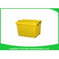 Wholesale 50 Ltr Reusable Plastic Clear Storage Boxes With Lids Antistatic 560 * 390 * 320mm from china suppliers