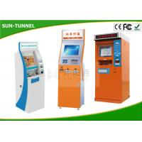 Quality Bill Dispense Coins To Cash Self Service Kiosk Machine , Currency Exchange Kiosk for sale