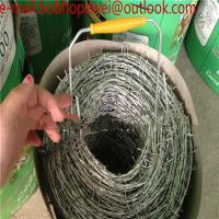 Wholesale weight of barbed wire per meter length/100m Barbed wire length per roll/pvc coated galvanized barbed wire length per rol from china suppliers