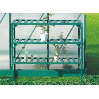 Wholesale Easily Assembled Green Metal Flower Shelf / Flower Holder With 3 Tier Aluminum Frame from china suppliers