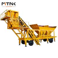 Wholesale 25m3/h Mobile concrete batching plant for sale,mobile concrete plant price from china suppliers