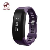 Quality Bluetooth heart rate health sleep monitor pedometer bracelet with CE certificate for sale