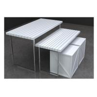 Wholesale Customized Retail Display Nesting Tables , White Clothing Store Display Tables from china suppliers